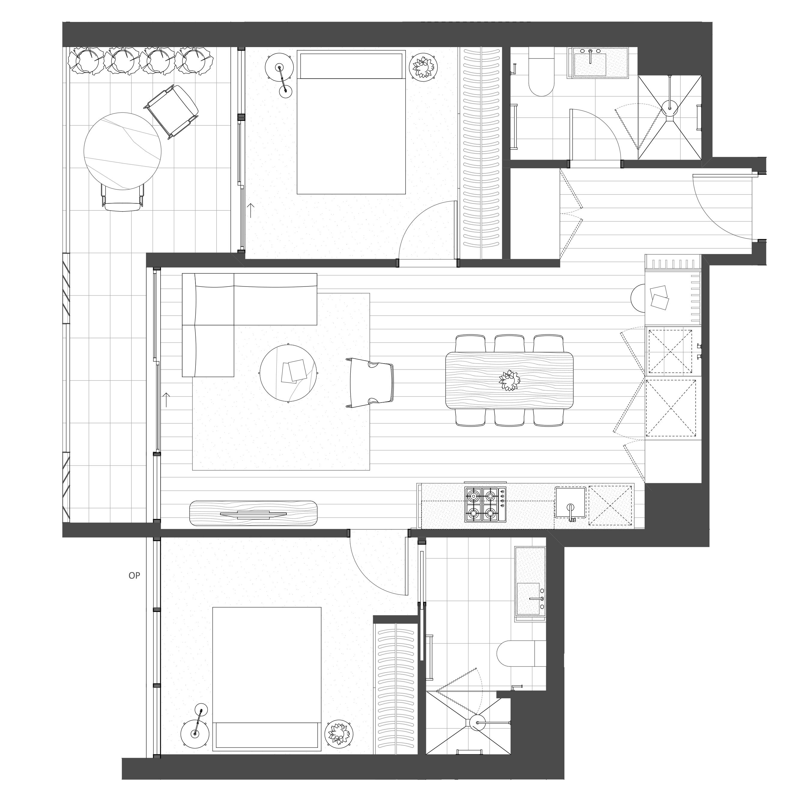 2 Bedroom, 2 Bathroom, 1 Carpark