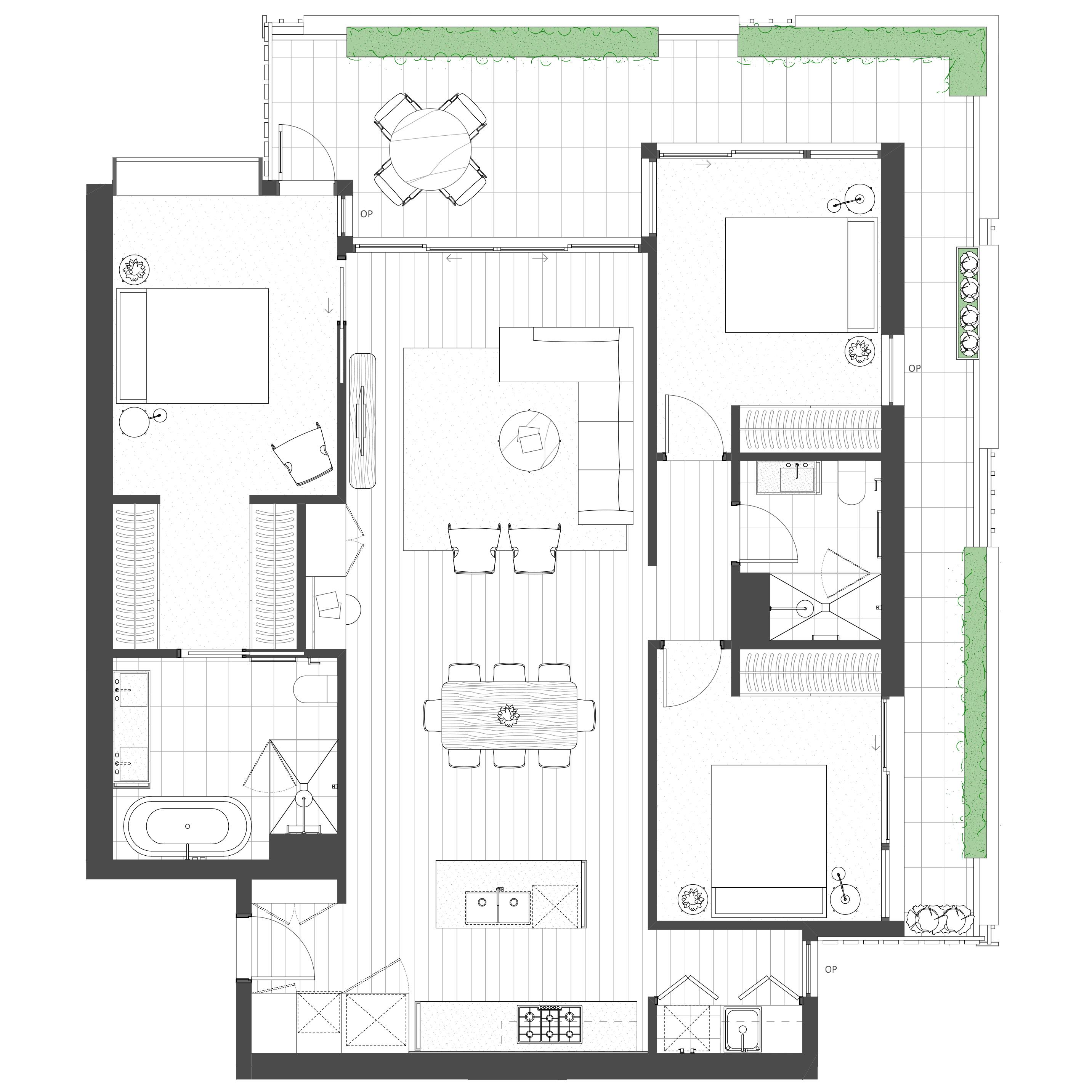 3 Bedroom, 2 Bathroom, 2 Carpark