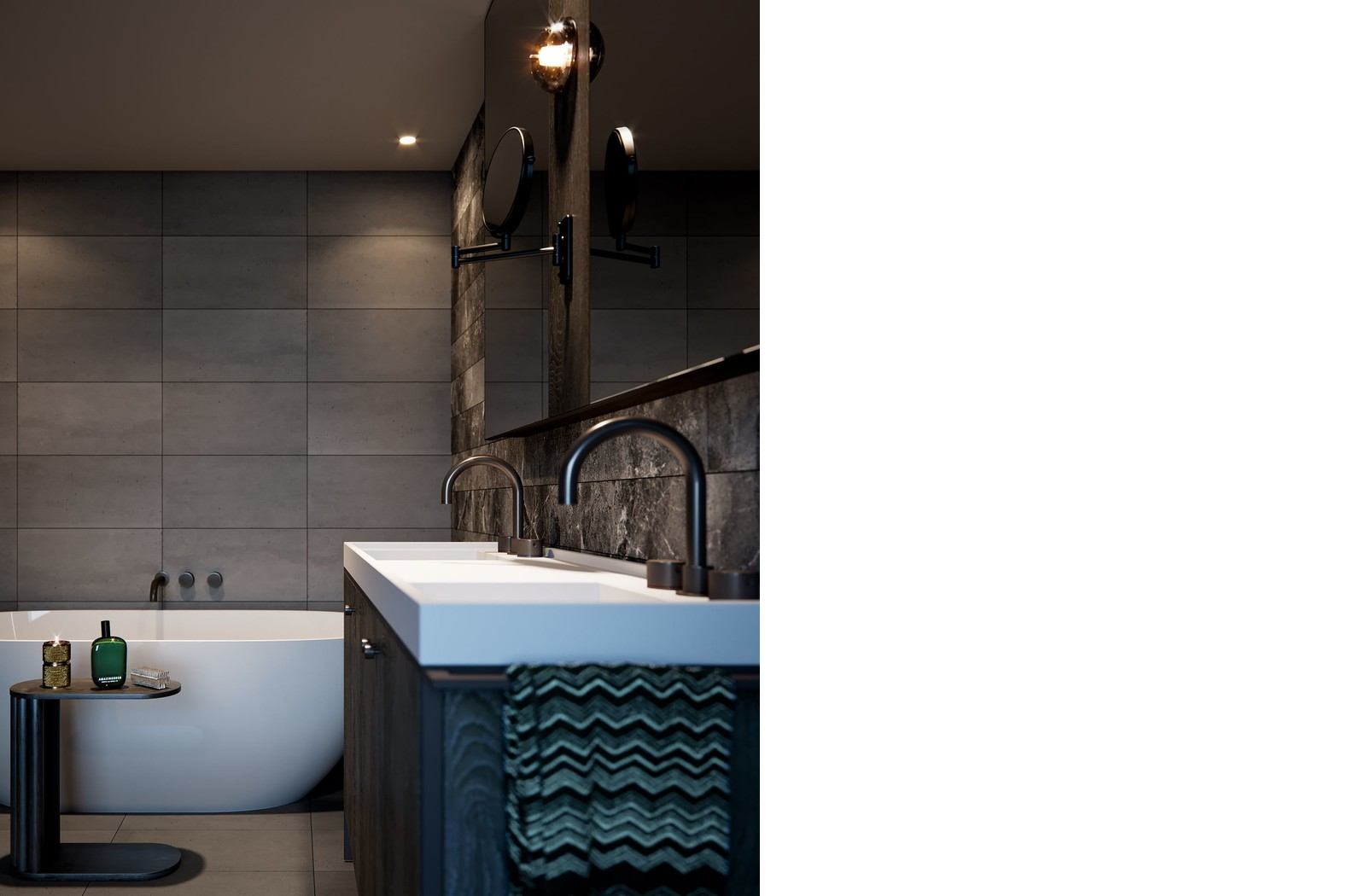 Artist's impression of the ensuite in the Artisan Residences penthouses